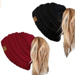 Women's Beanie Cap solid rib cap